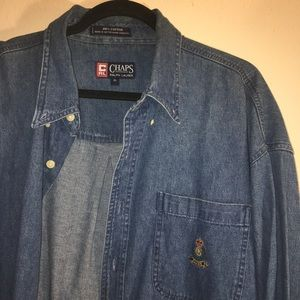 Vintage Ralph Lauren and Chaps denim button down